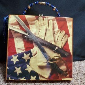 Patriotic cigar box purse